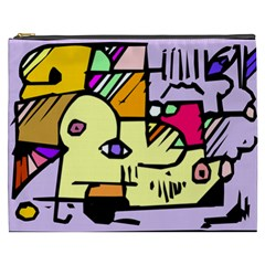 Fighting The Fog Cosmetic Bag (xxxl) by FunWithFibro