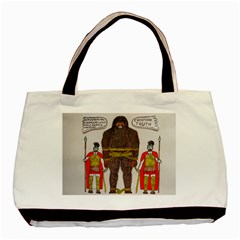 Big Foot & Romans Twin Sided Black Tote Bag by creationtruth