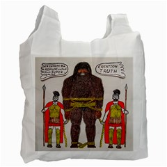 Big Foot & Romans White Reusable Bag (two Sides) by creationtruth