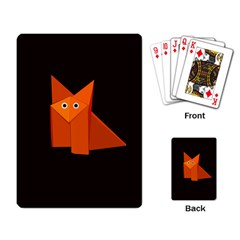 Dark Cute Origami Fox Playing Cards Single Design by CreaturesStore