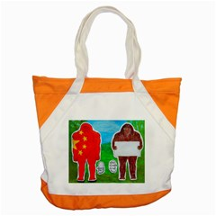 2 Yeh Ren,text & Flag In Forest  Accent Tote Bag by creationtruth