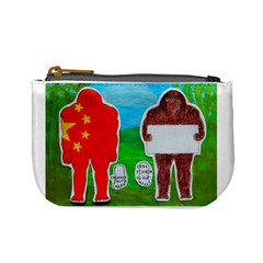 2 Yeh Ren,text & Flag In Forest  Coin Change Purse by creationtruth
