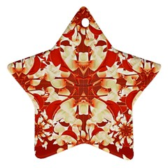 Digital Decorative Ornament Artwork Star Ornament (two Sides) by dflcprints