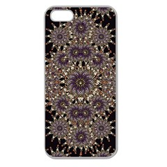 Luxury Ornament Refined Artwork Apple Seamless Iphone 5 Case (clear) by dflcprints