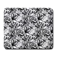 Flower Lace Large Mouse Pad (rectangle) by rokinronda