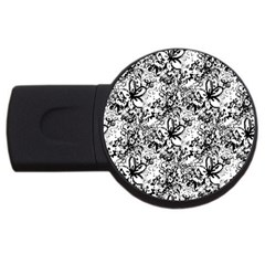 Flower Lace 4gb Usb Flash Drive (round) by rokinronda