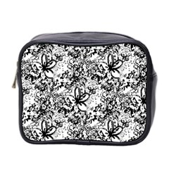 Flower Lace Mini Travel Toiletry Bag (two Sides) by rokinronda