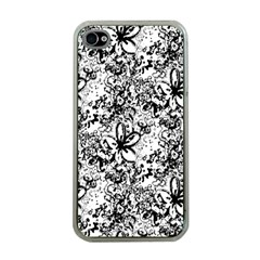Flower Lace Apple Iphone 4 Case (clear) by rokinronda