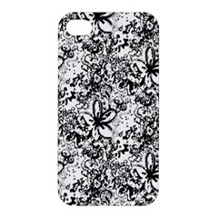 Flower Lace Apple Iphone 4/4s Premium Hardshell Case by rokinronda