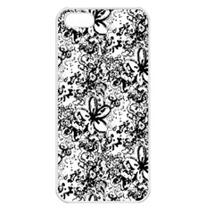 Flower Lace Apple Iphone 5 Seamless Case (white) by rokinronda