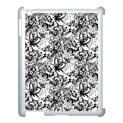 Flower Lace Apple Ipad 3/4 Case (white) by rokinronda