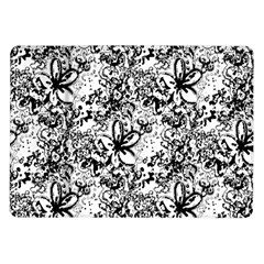 Flower Lace Samsung Galaxy Tab 10 1  P7500 Flip Case by rokinronda