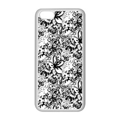 Flower Lace Apple Iphone 5c Seamless Case (white) by rokinronda