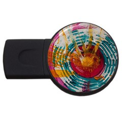 Art Therapy 4gb Usb Flash Drive (round)