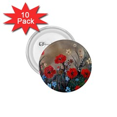 Poppy Garden 1 75  Button (10 Pack) by rokinronda