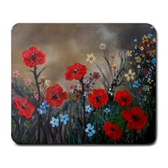 Poppy Garden Large Mouse Pad (rectangle) by rokinronda
