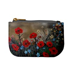 Poppy Garden Coin Change Purse by rokinronda