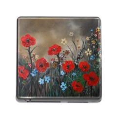 Poppy Garden Memory Card Reader With Storage (square)