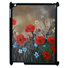 Poppy Garden Apple Ipad 2 Case (black) by rokinronda
