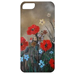 Poppy Garden Apple Iphone 5 Classic Hardshell Case by rokinronda