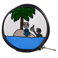 Desert Island Humor Mini Makeup Case by EricsDesignz