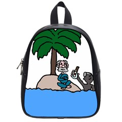 Desert Island Humor School Bag (small) by EricsDesignz