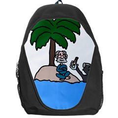 Desert Island Humor Backpack Bag by EricsDesignz