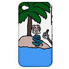 Desert Island Humor Apple Iphone 4/4s Hardshell Case (pc+silicone) by EricsDesignz