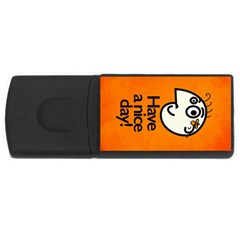 Have A Nice Day Happy Character 4gb Usb Flash Drive (rectangle) by CreaturesStore