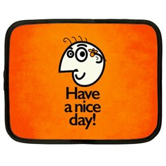 Have A Nice Day Happy Character Netbook Sleeve (xl) by CreaturesStore