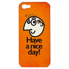 Have A Nice Day Happy Character Apple Iphone 5 Hardshell Case by CreaturesStore