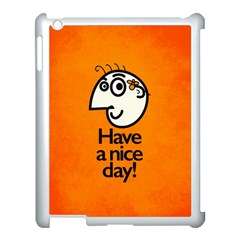 Have A Nice Day Happy Character Apple Ipad 3/4 Case (white)