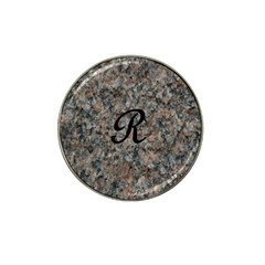 Pink And Black Mica Letter R Golf Ball Marker (for Hat Clip) by Khoncepts