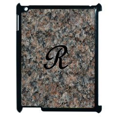 Pink And Black Mica Letter R Apple Ipad 2 Case (black) by Khoncepts