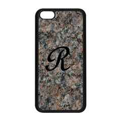 Pink And Black Mica Letter R Apple Iphone 5c Seamless Case (black)