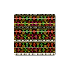 Aztec Style Pattern Magnet (square) by dflcprints
