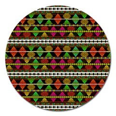 Aztec Style Pattern Magnet 5  (round) by dflcprints