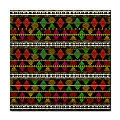 Aztec Style Pattern Face Towel by dflcprints
