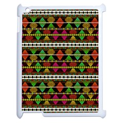 Aztec Style Pattern Apple Ipad 2 Case (white) by dflcprints
