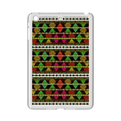 Aztec Style Pattern Apple Ipad Mini 2 Case (white) by dflcprints