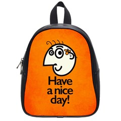 Have A Nice Day Happy Character School Bag (small) by CreaturesStore