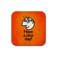 Have A Nice Day Happy Character Drink Coaster (square)