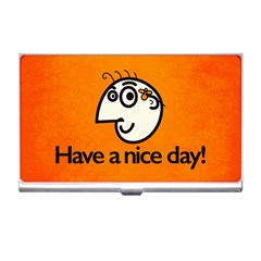 Have A Nice Day Happy Character Business Card Holder by CreaturesStore