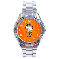 Have A Nice Day Happy Character Stainless Steel Watch by CreaturesStore