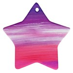 Abstract In Pink & Purple Star Ornament Front