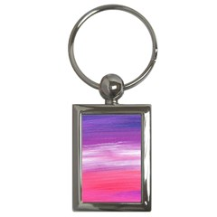 Abstract In Pink & Purple Key Chain (rectangle)