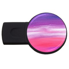 Abstract In Pink & Purple 2gb Usb Flash Drive (round) by StuffOrSomething