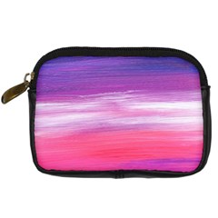 Abstract In Pink & Purple Digital Camera Leather Case by StuffOrSomething