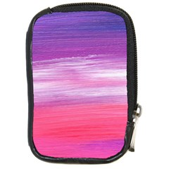 Abstract In Pink & Purple Compact Camera Leather Case