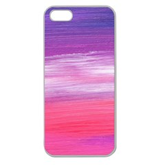 Abstract In Pink & Purple Apple Seamless Iphone 5 Case (clear) by StuffOrSomething